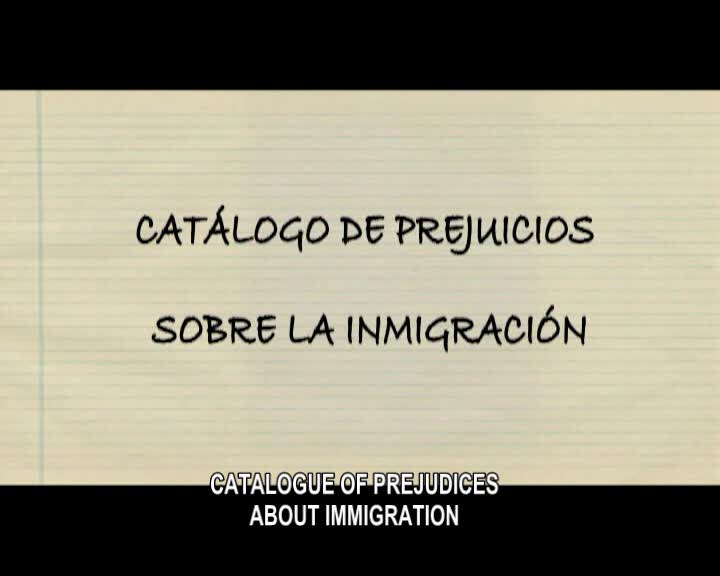 Catalogue of stereotypes on inmigration